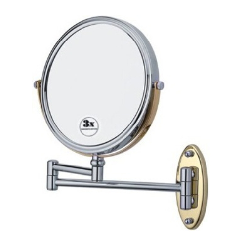 hotel style double side wall mount magnifying makeup mirror KD-2513