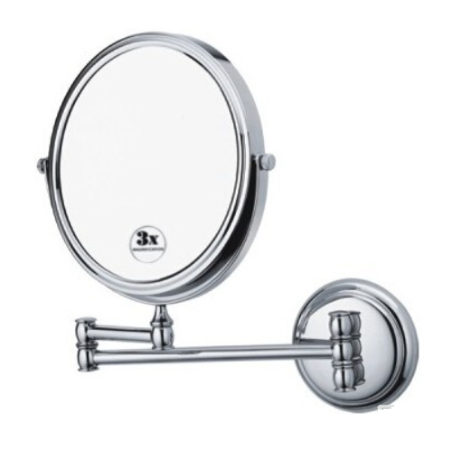hotel style double side wall mounted magnifying mirror glass KD-2518