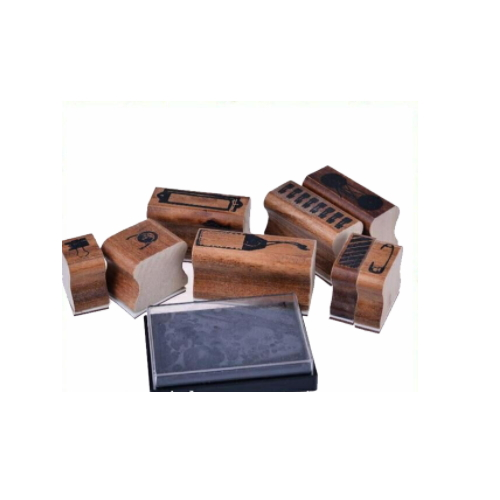 hot sale custom wooden stamp set    ZY57