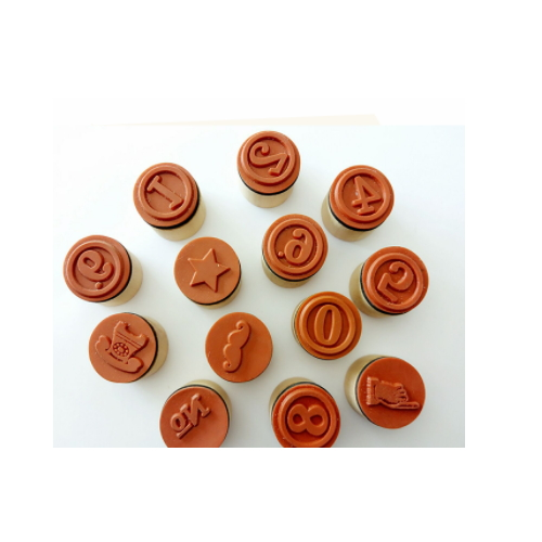 Custom round wooden stamps   ZY64