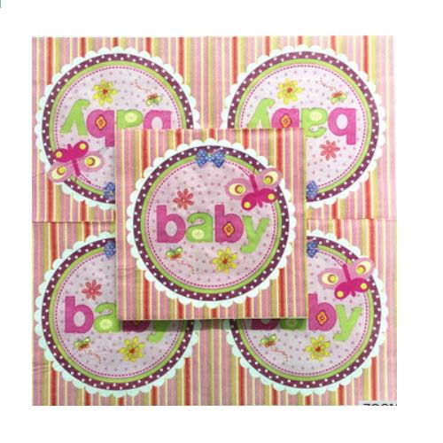 Beautiful color gift cake and balloon paper napkin    AY-68