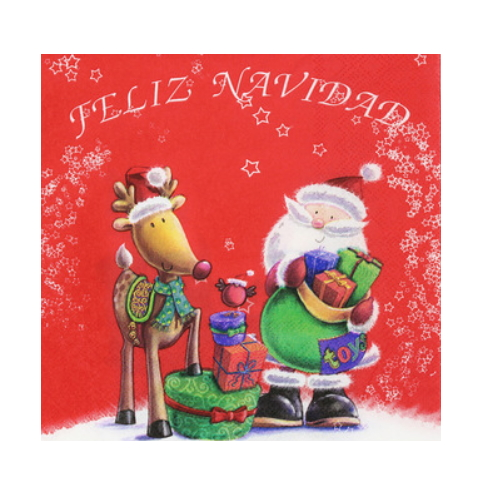 Decorating Christmas santa claus paper napkin   AY-84