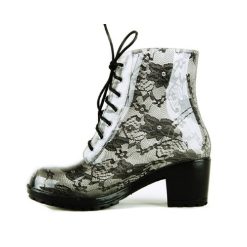 latest ankle ladies rain boots sexy women lace boots   QH103