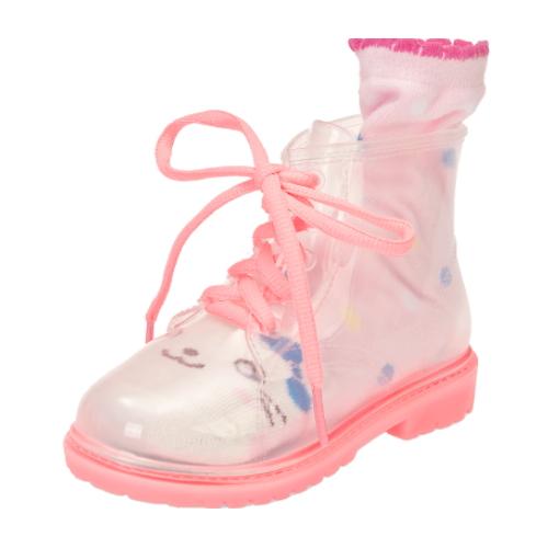 Comfortable Kids Transparent Color Martin PVC Rain Boots   QH170