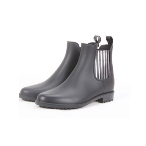 pvc ankle rain boots with beautiful elastic cord for women      QH178