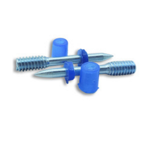 thread drive nail with plastic washer and cap with chamfer  K23