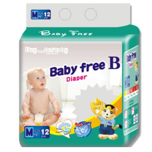 Cheap price 3-D Leak prevention little angel diapers disposable baby QD024