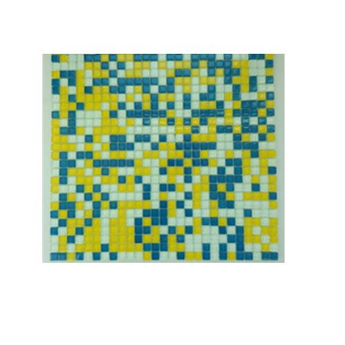 Cheap price dots mosaic swimming pool tile glass mosaics     JQK-171002