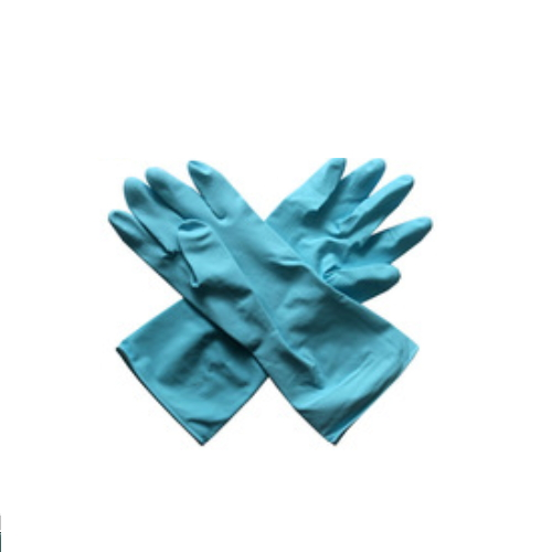 Waterproof Flocklined Household Latex Hand Gloves For Winter Cleaning Work    HY21