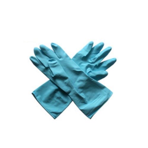 Waterproof Flocklined Household Latex Hand Gloves For Winter Cleaning Work    HY30
