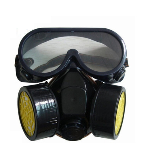 respirator chemical half face gas mask with double cartridge filter K-5043