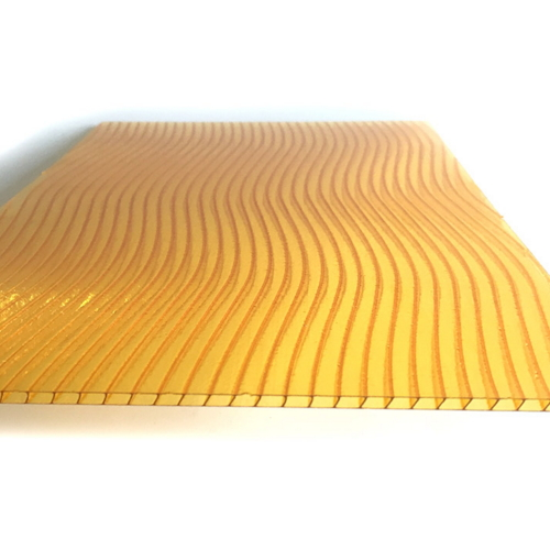Clear 8 mm Polycarbonate Hollow S Shaped Sheet  010