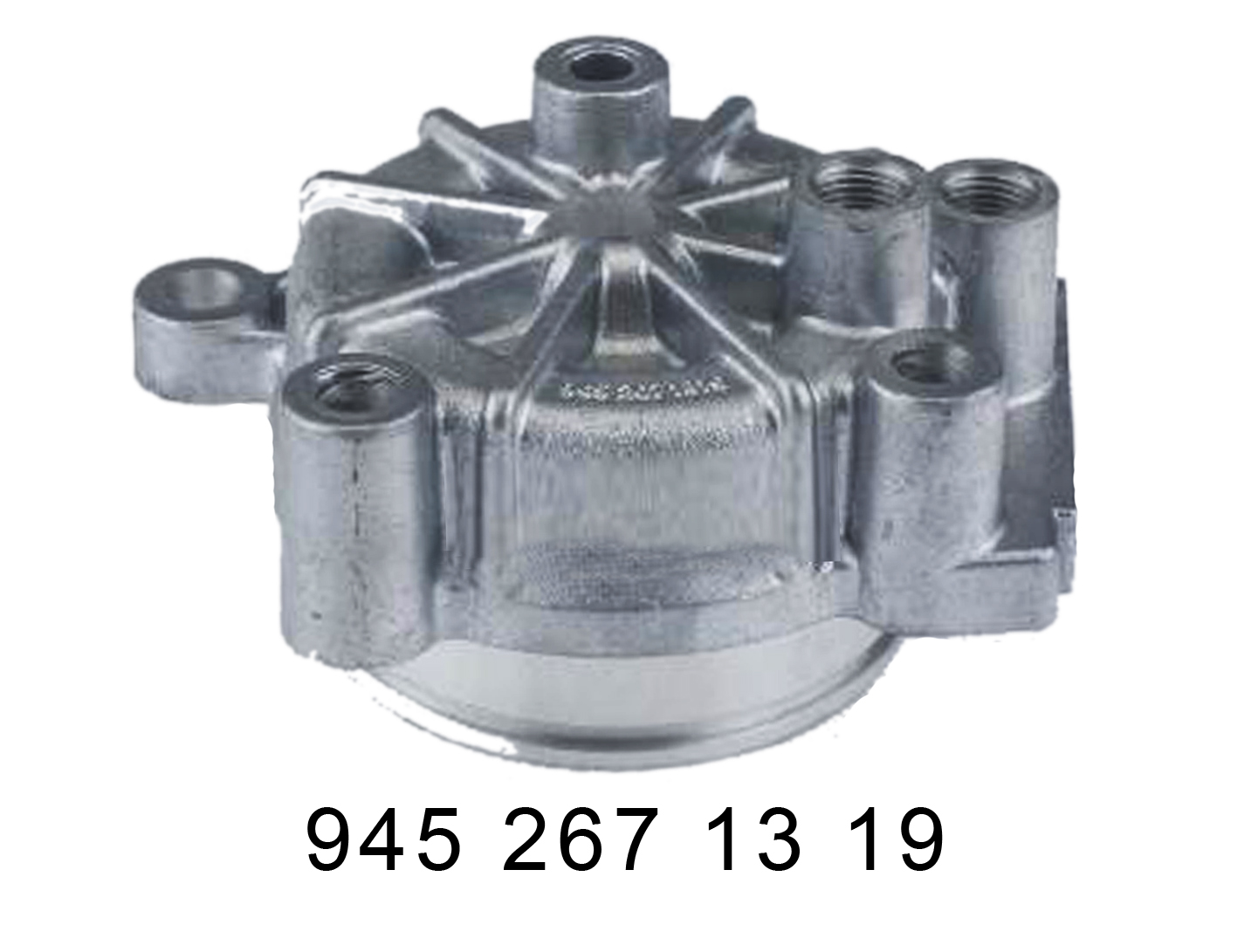 Aluminum die casting auto parts end cover from China factory  FST-BE-1107