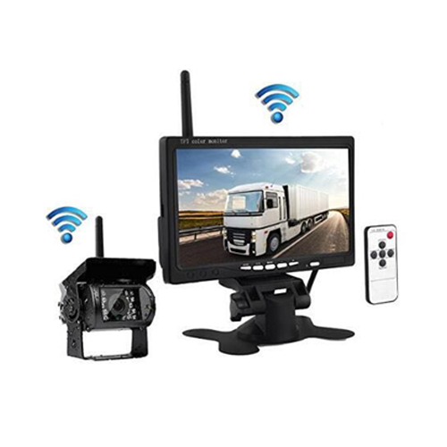 7inch 2.4G Wireless Revering Camera Monitor With Waterproof Rearview Cameras   SJ-702W750WDVR