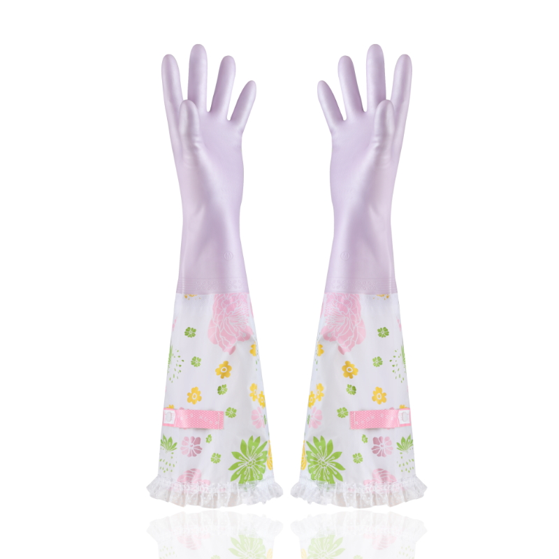 Wholesale kitchen cleaning wash dishes long waterproof gloves 8802