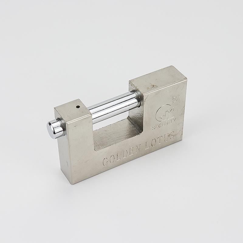 Horizontal open rectangular iron padlock ZS-001