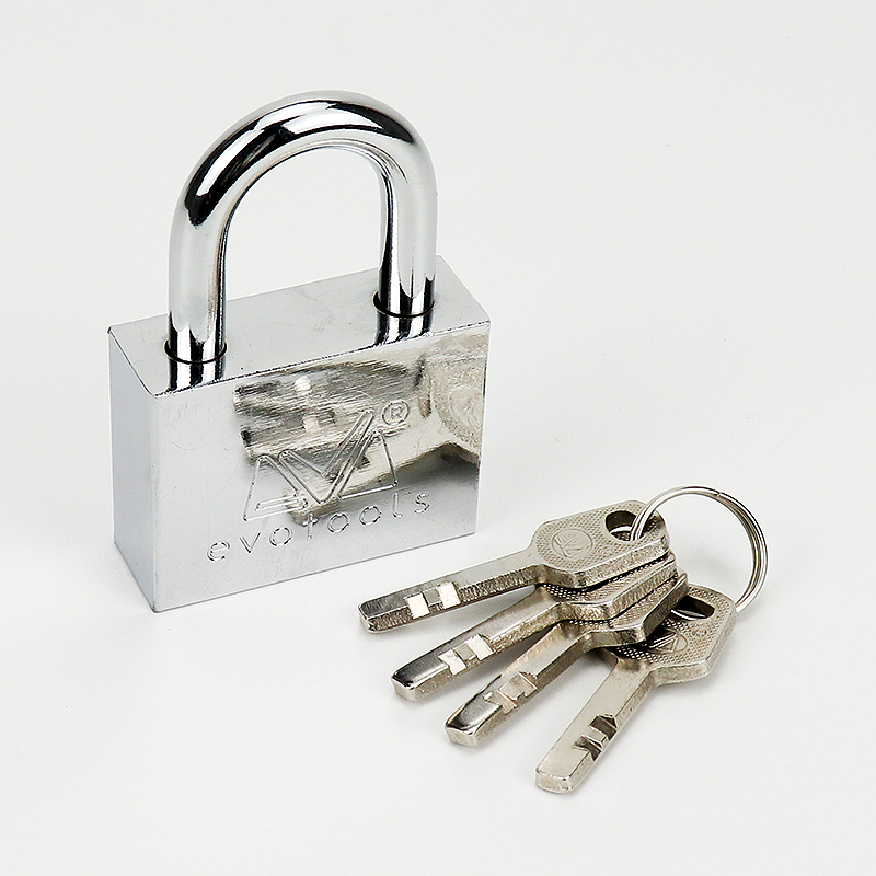 Square Silver Stainless Steel Padlock ZY-014