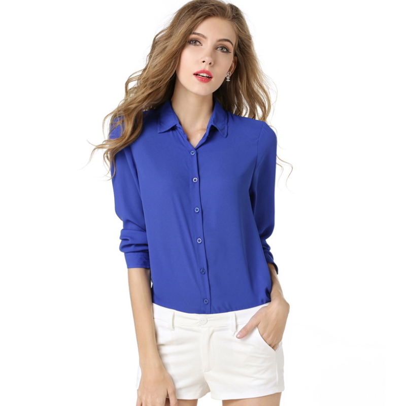 Fashion lady chiffon blouse loose plus size wholesale plain t-shirts ZS-009