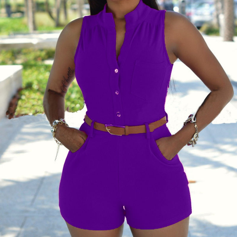 Sexy Fashion Women's Loose Slim Casual Jumpsuit Shorts Clothes Dy-010