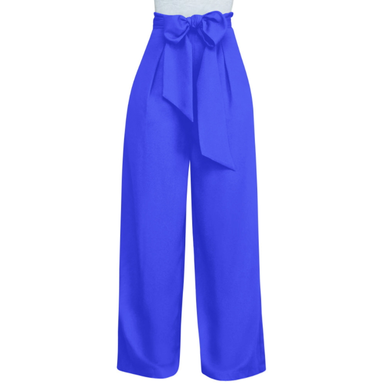 Oemtailor Winter polyester Bandage wide-leg straight pants women's pants K-009