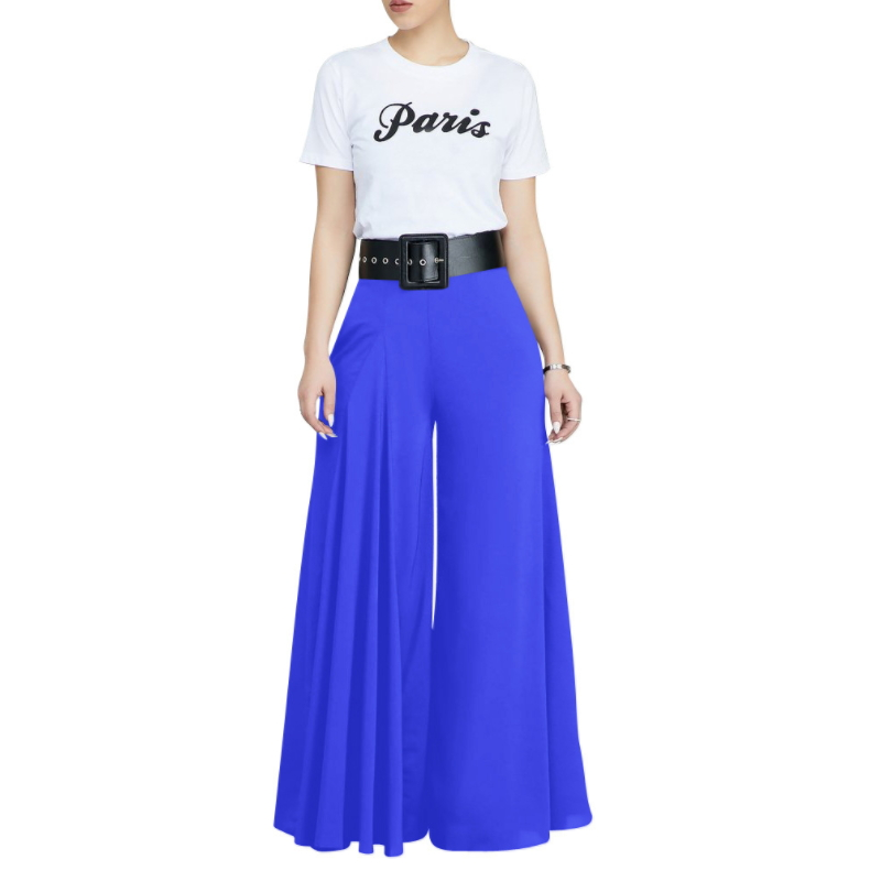 Autumn and Winter Fashion Ladies Wide Leg Trousers K-010