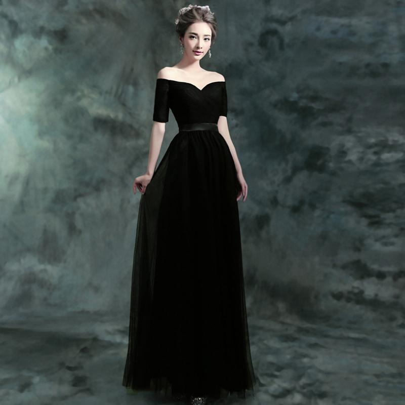 Favorite Open Shoulder Evening Dresses W-003