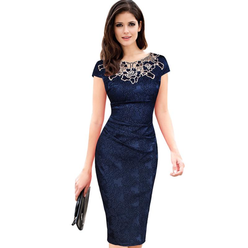 women's dress short-sleeved elegant tight pencil skirt rose lace skirt  MF-001
