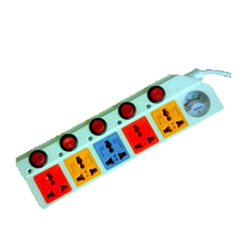 5 -way Power Strip With Voltmeter(No.0048)