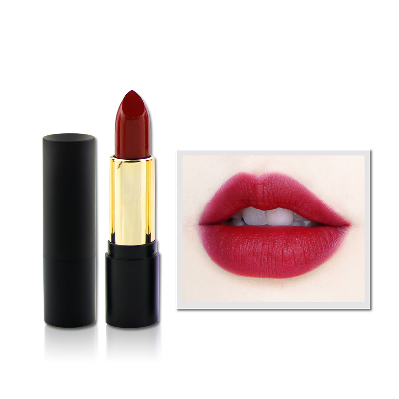 2019 hot selling make up cosmetic romantic beauty matte lipstick with small mop