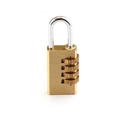 Brass Combination Password Brass Square Type Plated Iron Padlock  SS-005