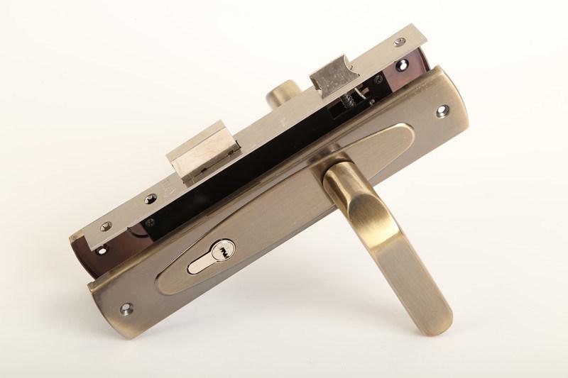 Aluminum Handle Iron Plate Door Lock for Hotel Lock Furniture Hardware  NO. 311-257