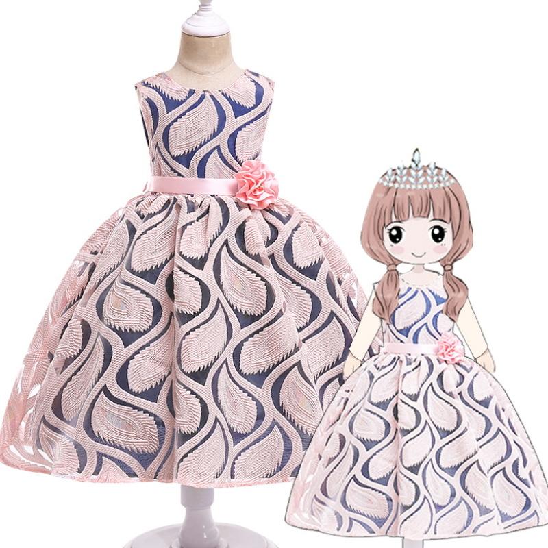 Fashion Nova Clothing Elegant First Communion Kids Party Dresses T-001