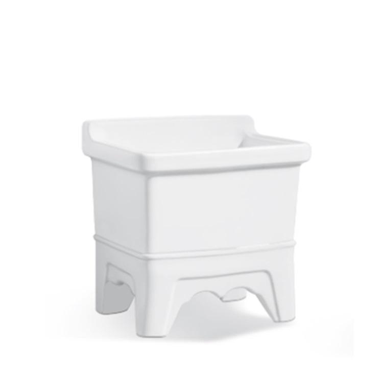 White Bathroom Ceramic Sinks Mop Pool SJ-318