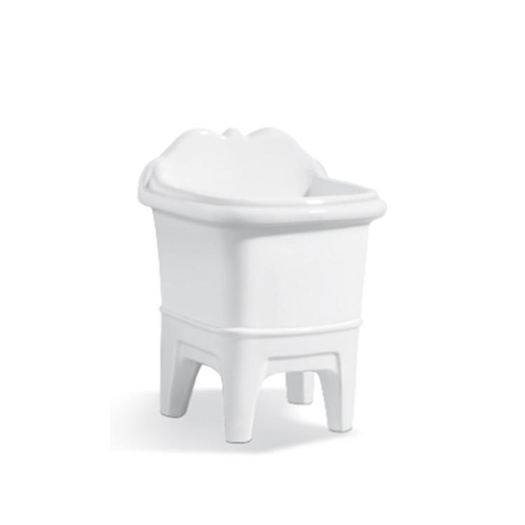 Ceramic White Rectangular Corner Mop Basin SJ-304