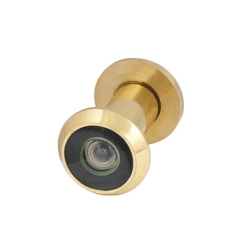 Hot Sale Wide Angle Plastic Optics Satin Gold Brass Door Eye Viewer Peephole DV1,16 / 35x60 SG