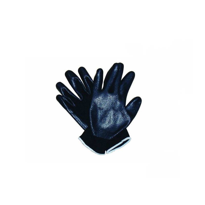 Competitive 100% Polyester Black Color Working Glove (SQ-054)