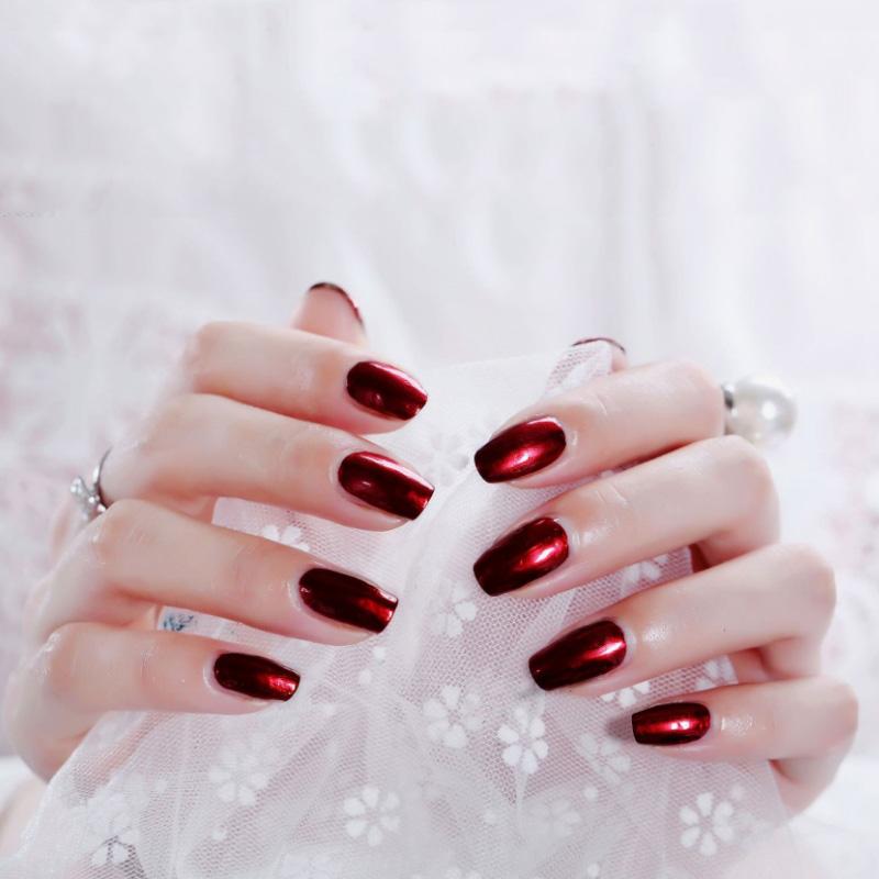 New mirror silver metallic stainless steel nail polish
