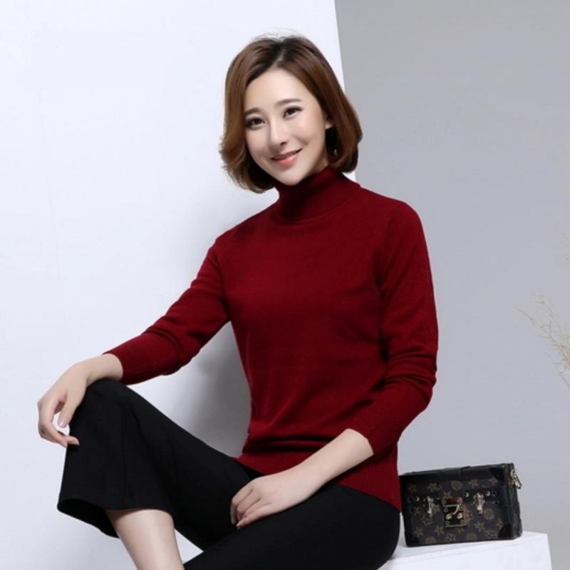 Turtleneck Ladies Fancy Stylish Sweater