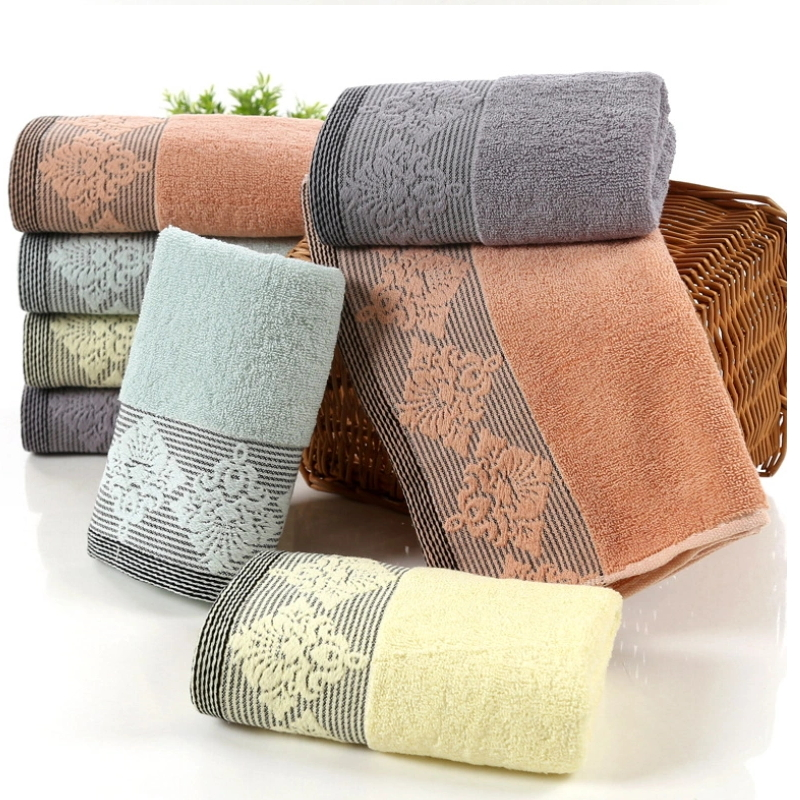 High Quality 100% Cotton colorful Bath Towel