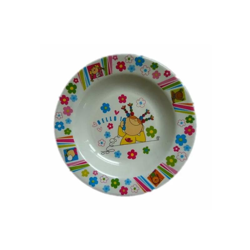 Plastic Melamine Dinner Dish Cartoon Plate For Restaurant