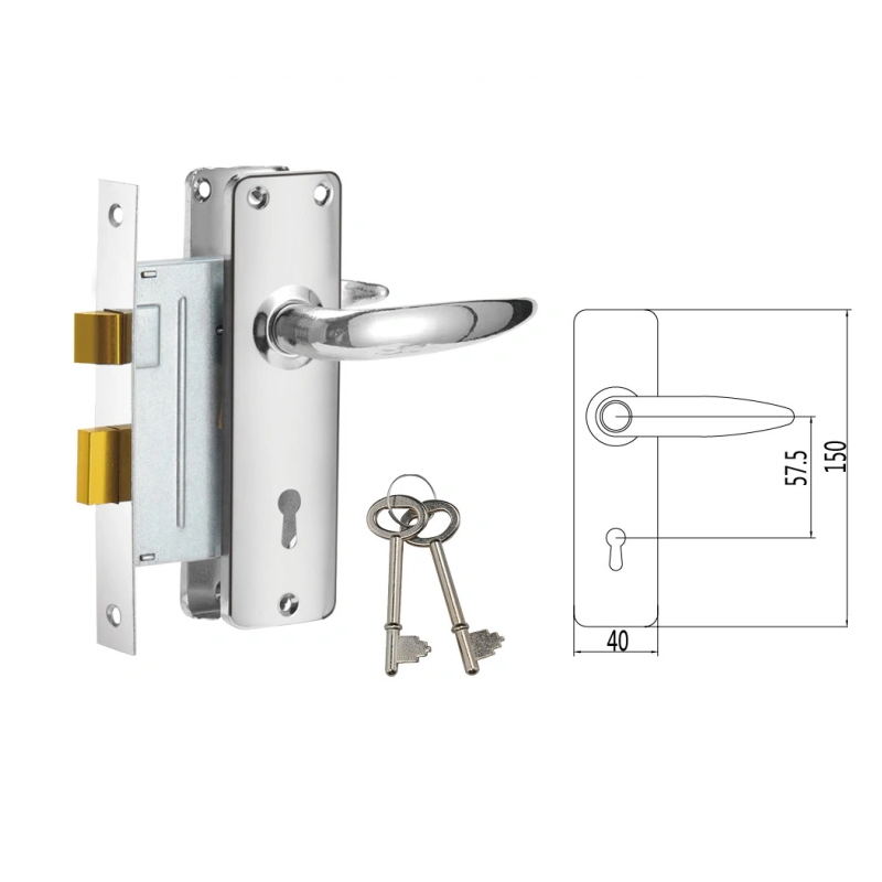 New Mortise Lock Set for Africa 910-3495-Cp
