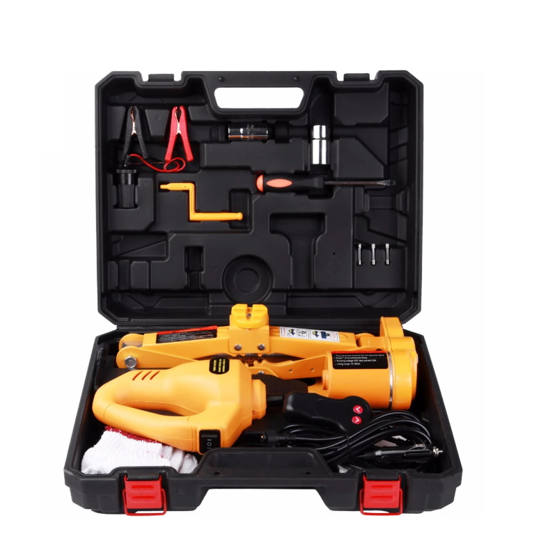 Hot Sale DC 12V 2 Tons Portable Electric Car Jack and Impact Wrench Ty-006