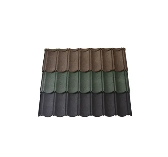 Colorful Zinc Aluminium Stone Chips Coated Steel Tile