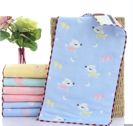 Children Cotton Hand Towel with Cartoon Embroidery