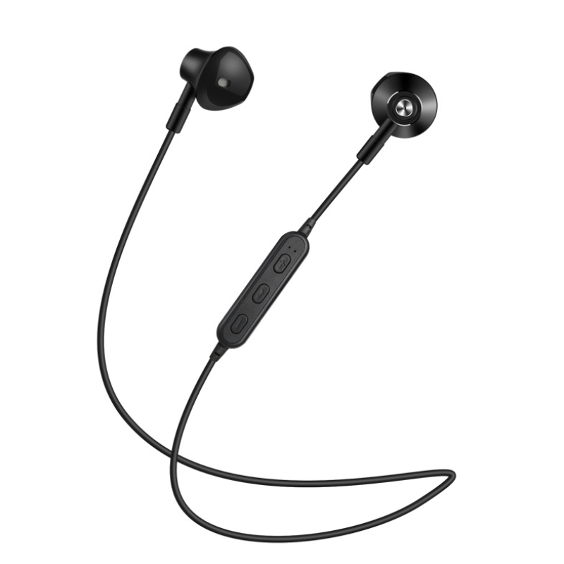 new bluetooth sports headphones metal head magnetic