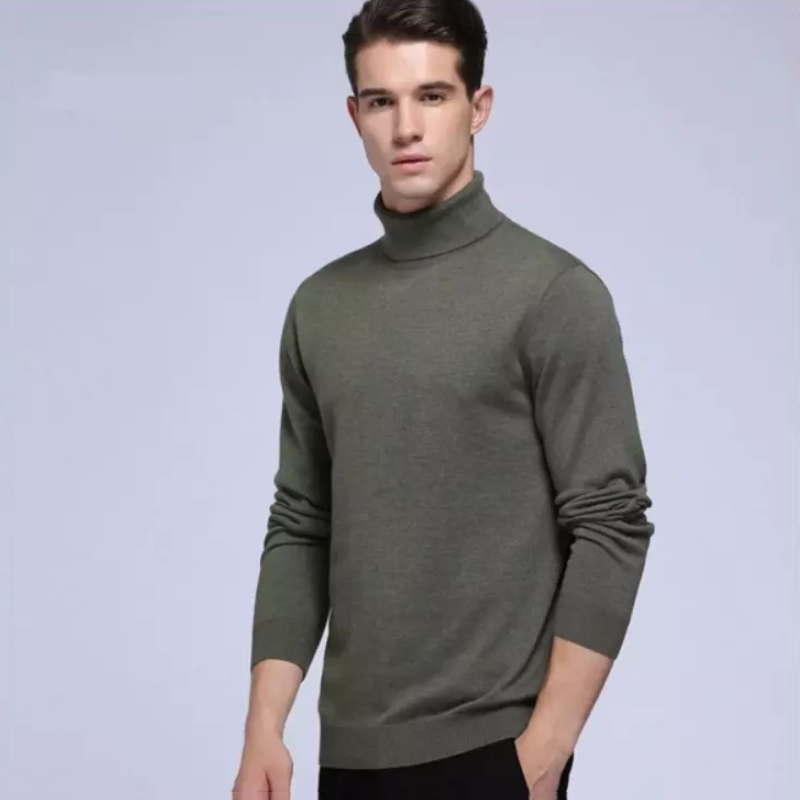 Fashion Soft Turtleneck Sweater Men Wool Sweater