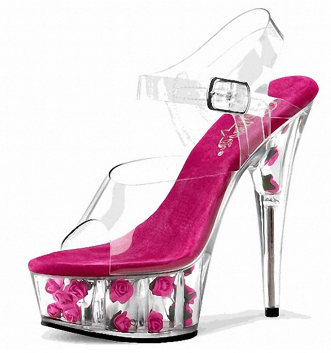 Women Transparent Summer Sandal Sexy 15cm High Heel Lady Sandal