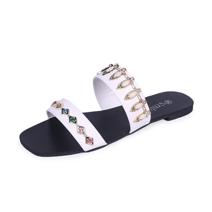 Spring Summer New Slippers Lady Flat Slipper Shoes
