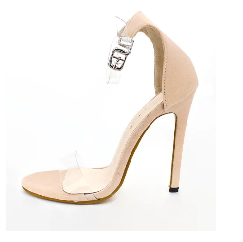 Peep Toe Rose Gold Clear Heel Ankle Boots Fashion New Style High Heel Shoes