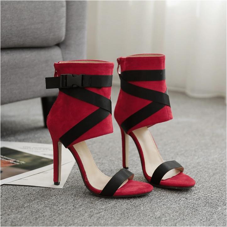 Women High Thin Heel Peep Toe Classic Style Dress Shoe for Girls
